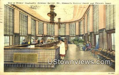 Hall of Waters Dispensary - Excelsior Springs, Missouri MO Postcard
