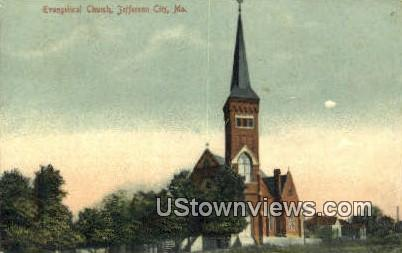 Evangelical Church - Jefferson City, Missouri MO Postcard