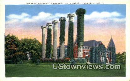 Historic Columns, University of Missouri - Columbia Postcard