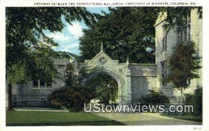 Archway, University of Missouri - Columbia Postcard