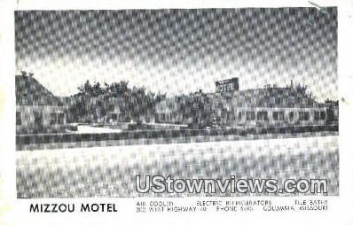 Mizzou Motel - Columbia, Missouri MO Postcard