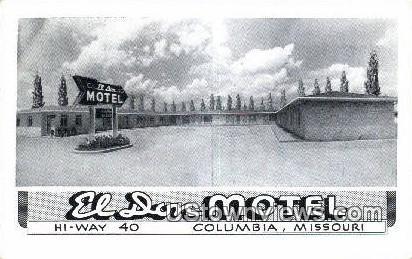 El Don Motel - Columbia, Missouri MO Postcard