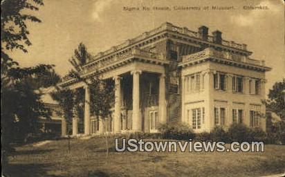 Sigma Nu House, University of Missouri - Columbia Postcard