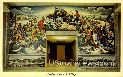 Benton Mural Painting - Independence, Missouri MO Postcard