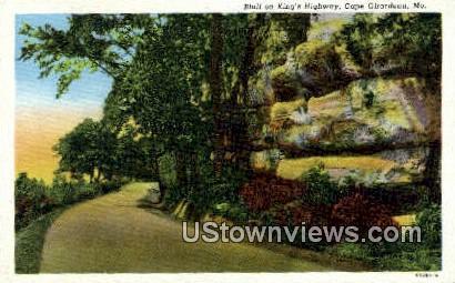 Bluff, King's Highway - Cape Girardeau, Missouri MO Postcard