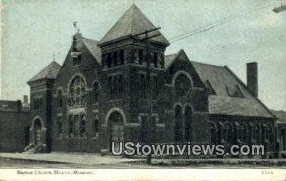Baptist Church - Mexico, Missouri MO Postcard