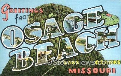 Greetings from - Lake of the Ozarks, Missouri MO Postcard