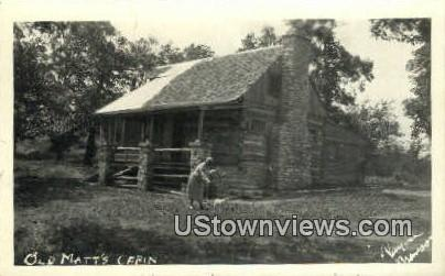 Real photo - Old Matt's Cabin - Branson, Missouri MO Postcard