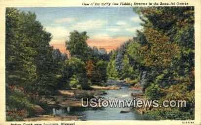 Indian Creek - Lanagan, Missouri MO Postcard