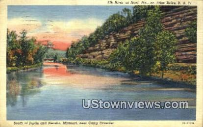 Elk River - Noel, Missouri MO Postcard