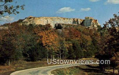 Baird Mountain - Rock State Park & Dam, Missouri MO Postcard