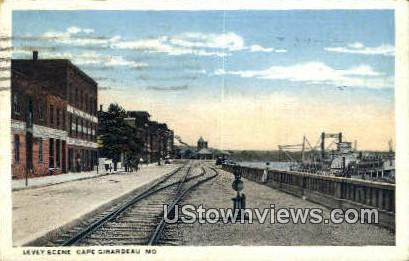 Levey Scene - Cape Girardeau, Missouri MO Postcard