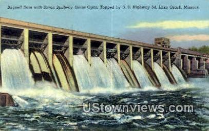 Bagnell Dam - Lake Ozark, Missouri MO Postcard