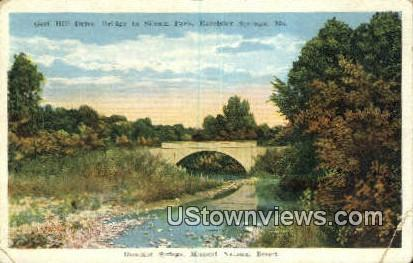 Golf Hill Drive, Siloam Park - Excelsior Springs, Missouri MO Postcard