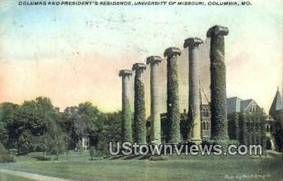 President's Residence, U of Missouri - Columbia Postcard