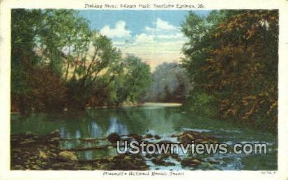 Fishing River, Siloam Park - Excelsior Springs, Missouri MO Postcard