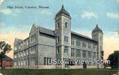 High School, Columbia - Missouri MO Postcard
