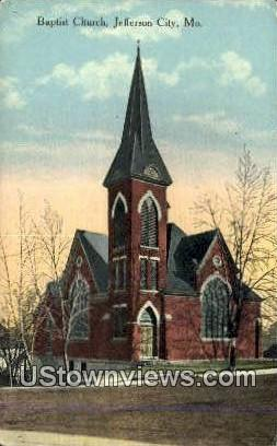 Baptist Church - Jefferson City, Missouri MO Postcard