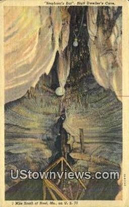 Bluff Dweller's Cave - Noel, Missouri MO Postcard
