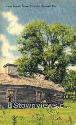 Jessie James' Home - Excelsior Springs, Missouri MO Postcard
