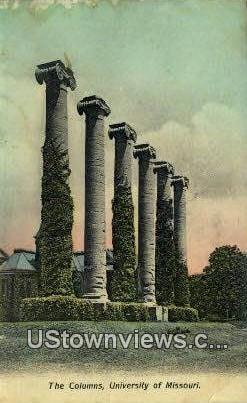 Columns, University of Missouri - Columbia Postcard