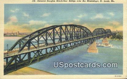 General Douglas MacArthur Bridge - St. Louis, Missouri MO Postcard