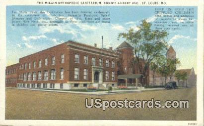 McLain orthopedic Sanitarium - St. Louis, Missouri MO Postcard
