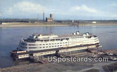 SS Admiral Mississippi River - St. Louis, Missouri MO Postcard