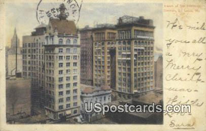Business District - St. Louis, Missouri MO Postcard