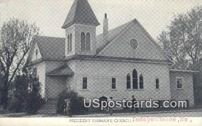 President Truman's Church - Independence, Missouri MO Postcard
