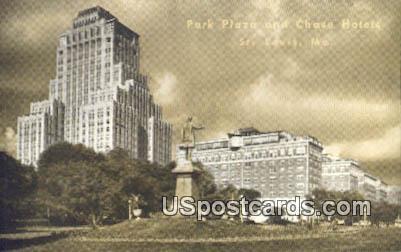 Park Plaza & Chase Hotels - St. Louis, Missouri MO Postcard