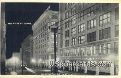 Washington Avenue - St. Louis, Missouri MO Postcard