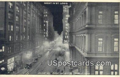 Olive Street - St. Louis, Missouri MO Postcard
