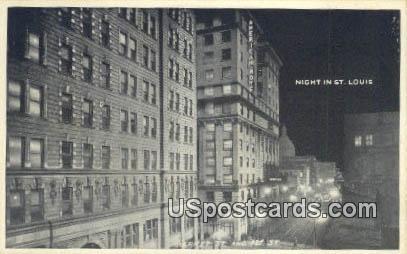 Market Street - St. Louis, Missouri MO Postcard