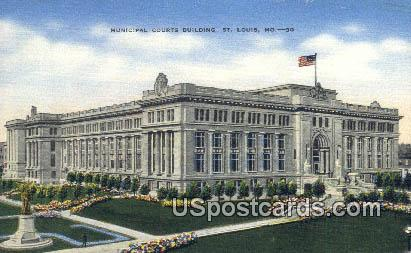 Municipal Courts Building - St. Louis, Missouri MO Postcard