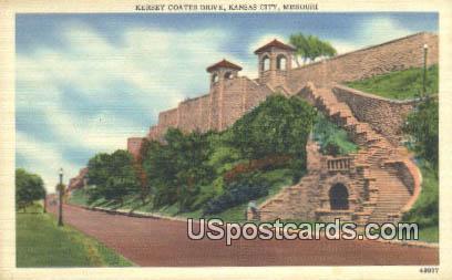 Kersey Coates Drive - Kansas City, Missouri MO Postcard