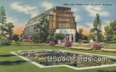 Jewel Box, Forest Park - St. Louis, Missouri MO Postcard