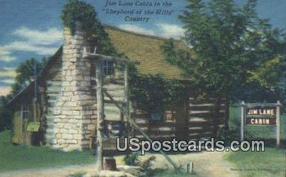 Jim Lane Cabin - Branson, Missouri MO Postcard