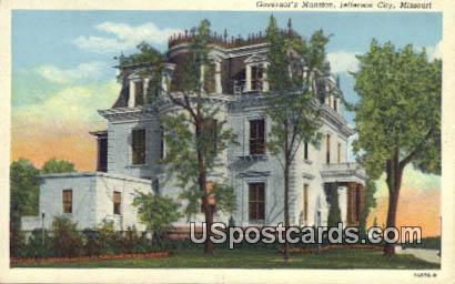 Governor's Mansion - Jefferson City, Missouri MO Postcard