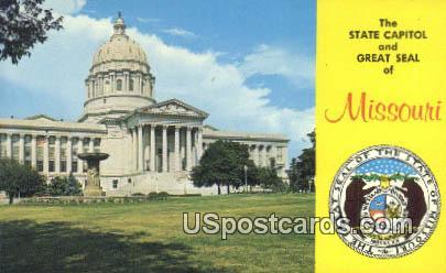 State Capitol - Jefferson City, Missouri MO Postcard