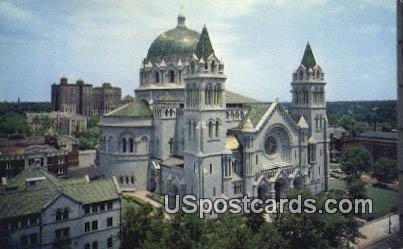 Saint Louis Catholic Cathedral - St. Louis, Missouri MO Postcard