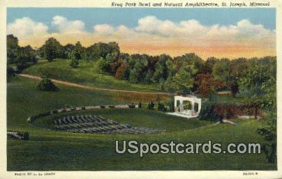 Krug Park Bowl & Natural Amphitheatre - St. Joseph, Missouri MO Postcard