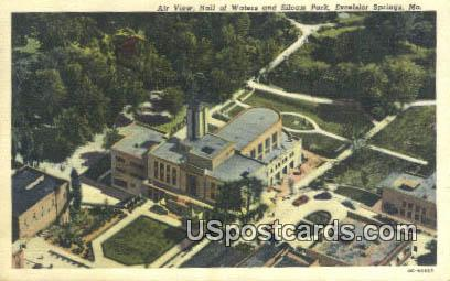 Hall of Waters, Siloam Gardens - Excelsior Springs, Missouri MO Postcard