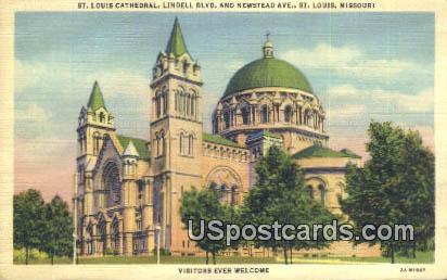 St. Louis Cathedral - Missouri MO Postcard
