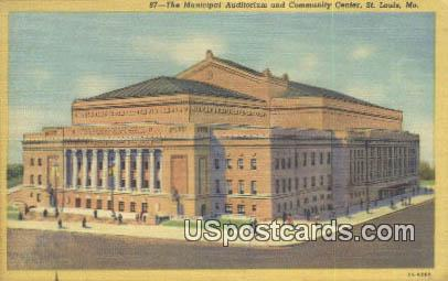 Municipal Auditorium - St. Louis, Missouri MO Postcard