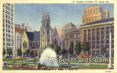 Sunken Gardens - St. Louis, Missouri MO Postcard