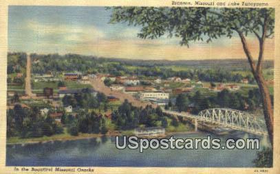 Lake Taneycomo - Branson, Missouri MO Postcard