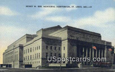 Henry W Kiel Municipal Auditorium - St. Louis, Missouri MO Postcard