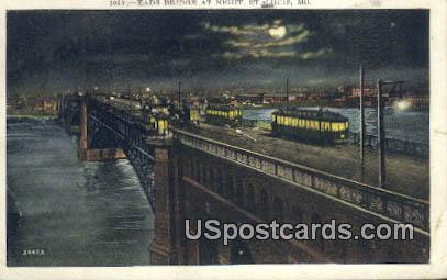Eads Bridge - St. Louis, Missouri MO Postcard