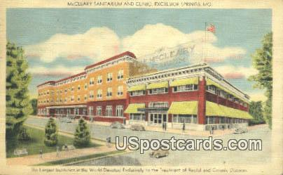 McCleary Sanitarium - Excelsior Springs, Missouri MO Postcard